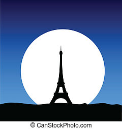 eiffel tower on the moon