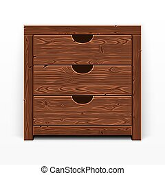 Wooden Old Chest of Drawers - Wooden old chest of drawers....