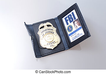 FBI badge and ID of a female agent