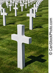 American memorial cemetery of World War II in Luxembourg -...