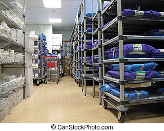 Sterile stores in Hospital - Photo taken in sterile stores...