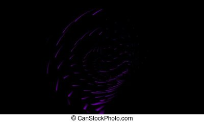 Animation of purple rotating circles - Animation of purple...