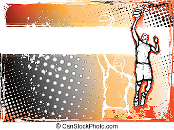 basketball byckground - illustration of the basketball...
