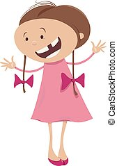 girl with braids cartoon character