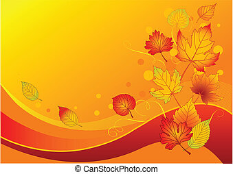 Autumn leaves - Beautiful background with colorful autumn...