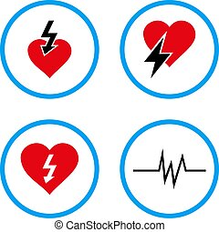 Heart Attack Rounded Vector Icons