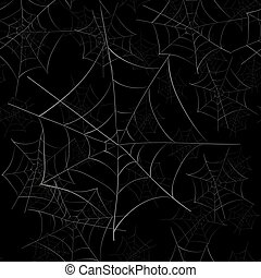 Spider Web Seamless Pattern - Spider Web Seamless Pattern on...