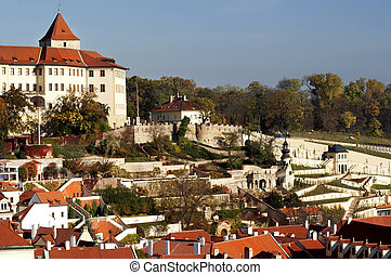 Gardens of Prague Castle - a complex of gardens surrounding...