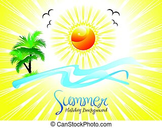 abstract artistic summer holiday background.eps