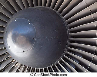 Jet engine fan - The turbine and blades of a jet engine