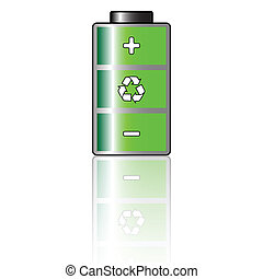 Environmental Battery - Illustration ecological rechargeable...