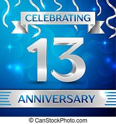 Thirteen Years Anniversary Celebration Design.