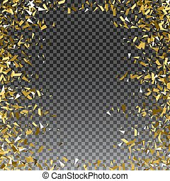 Abstract gold glitter splatter background for the card,...