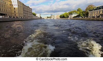 boat trip on the Neva River in St. Petersburg
