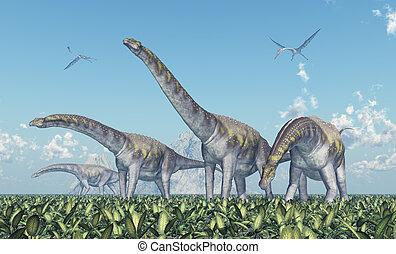 argentinosaurus,  quetzalcoatlus