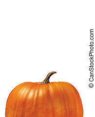 Pumpkin Isolated on White