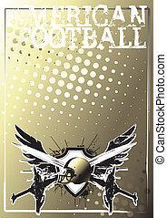 american football background - american football wings