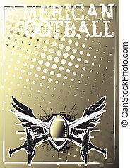 american football background 2 - american football wings