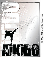 aikido background - aikido silver poster background
