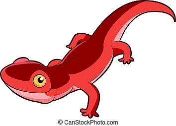 Cartoon smiling Newt - Vector image of the Cartoon smiling...