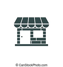 Store front icon on white background