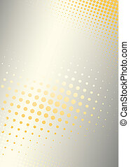 orange-silver poster background - metal background with dots