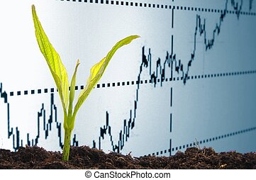 growing economy - growth or growing economy concept with...