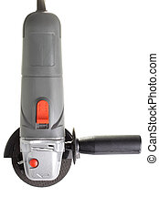 Angle Grinder. - Industrial angle grinder, isolated on a...