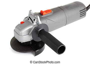 Angle Grinder - Industrial angle grinder, isolated on a...