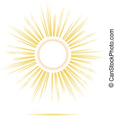 sun rays circle frame design, made in vector