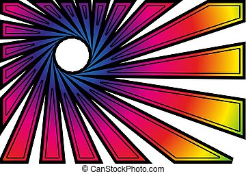 striped colorful abstract background