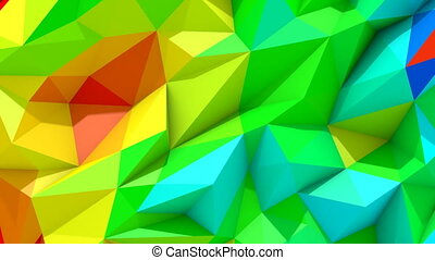 Low Poly Vivid Colorful Background - Low polygonal vivid...