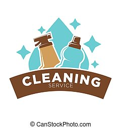 Home cleaning service vector icon of water drop and washing...