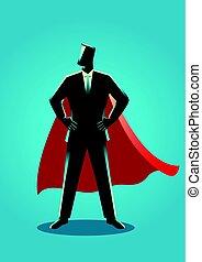 Businessman as a superhero - Business concept illustration...