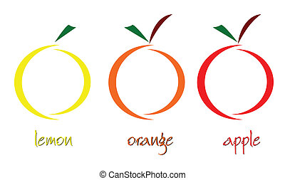 fruit art vector illustration