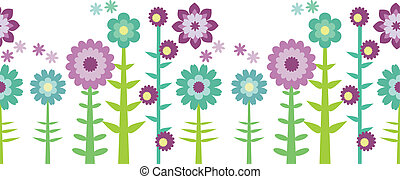 Seamless flower patten - Vector illustration with...