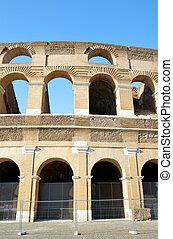Flavian Amphitheatre or Colosseum in Rome. - Flavian...