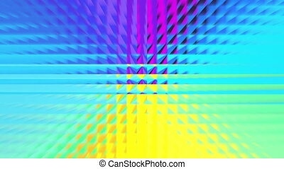 abstract rainbow color square pattern - The square pixel...