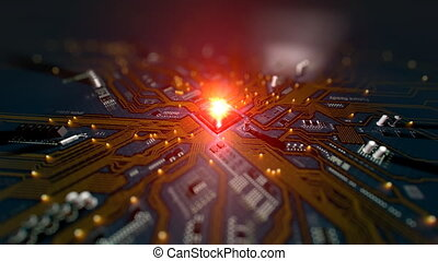 Motherboard Circuit Opener Background - Hi-tech futuristic...