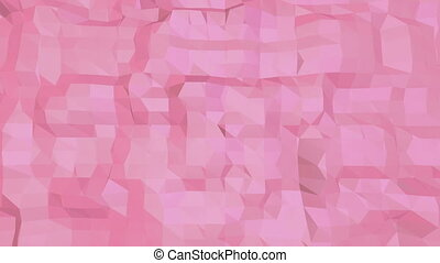 Rosy or pink low poly surface as futuristic landscape....