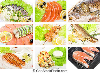 Fish set - Set of different tasty fish dish