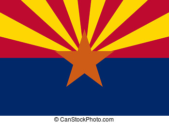 Flag of Arizona - Illustration of the flag of Arizona state...