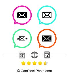 Mail envelope icons. Message symbols. - Mail envelope icons....
