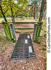 Nature reserve entrance - Entrance to nature reserve with...