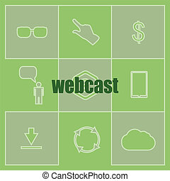 Text webcast. Business concept . Set of infographics...