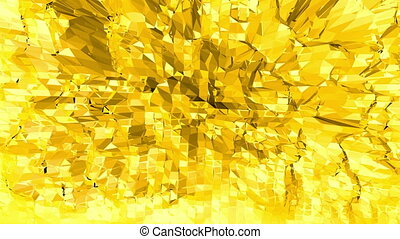 Yellow low poly background oscillating. Abstract low poly surface as fractal background in stylish low poly design. Polygonal mosaic background with vertex, spikes. Modern 3D design1