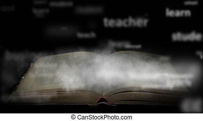 Book training concept. A book with a lot of knowledge - A...