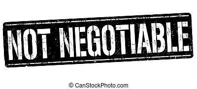 Not negotiable sign or stamp on white background, vector...