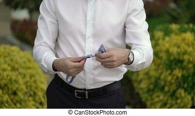 Man wearing bowtie - Man wearing bow tie outdoors
