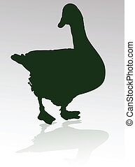 goose vector silhouettes